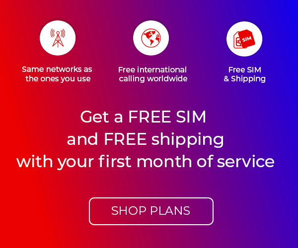 Get free SIM and free shipping - shop plans.