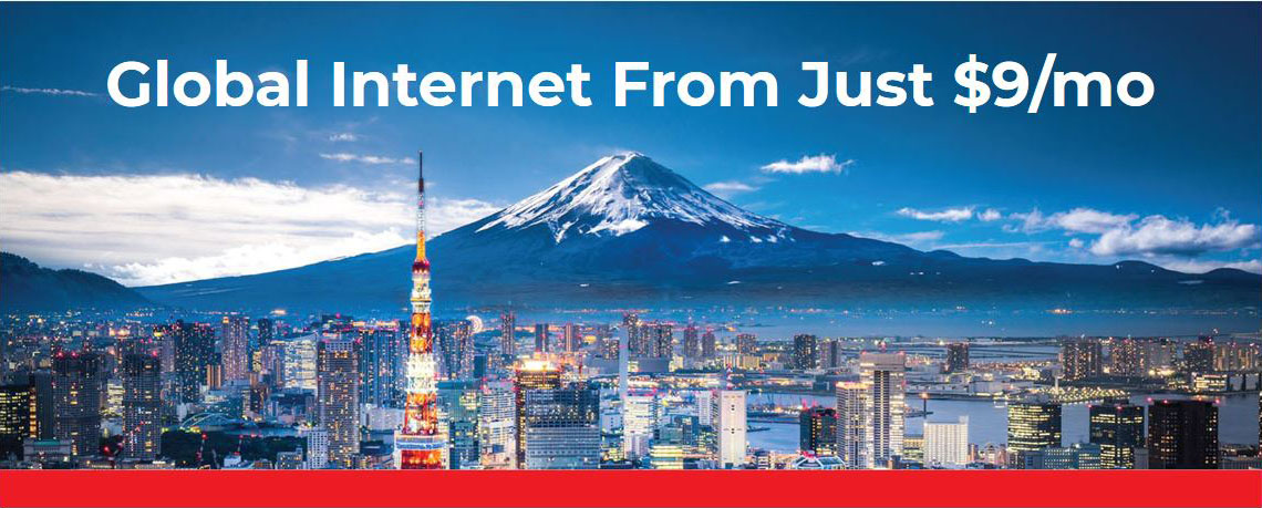 Cityscape, global internet from $9 per month